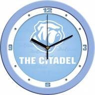 Citadel Bulldogs Baby Blue Wall Clock