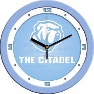Citadel Bulldogs Baby Blue Wall Clock