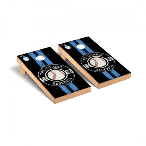 Citadel Bulldogs Baseball Vintage Cornhole Game Set