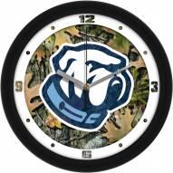 Citadel Bulldogs Camo Wall Clock