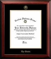 Citadel Bulldogs Gold Embossed Diploma Frame