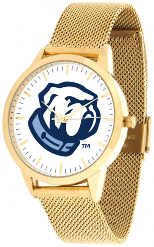 Citadel Bulldogs Gold Mesh Statement Watch