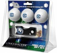 Citadel Bulldogs Golf Ball Gift Pack with Spring Action Divot Tool