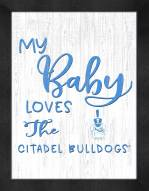Citadel Bulldogs My Baby Loves Framed Print