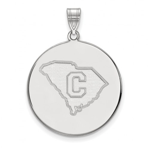 Citadel Bulldogs NCAA Sterling Silver Extra Large Disc Pendant