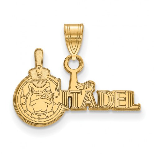 Citadel Bulldogs NCAA Sterling Silver Gold Plated Small Pendant