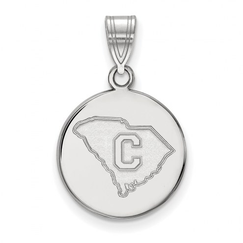 Citadel Bulldogs NCAA Sterling Silver Medium Disc Pendant