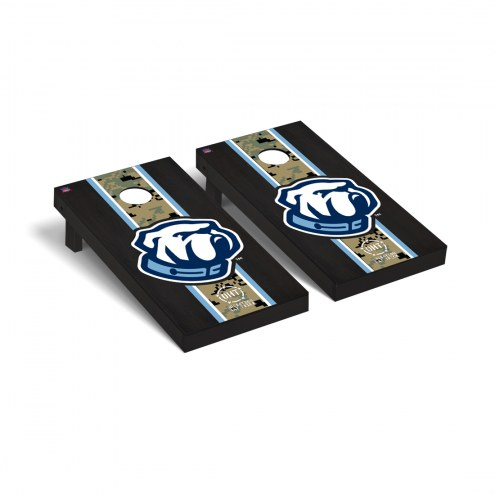 Citadel Bulldogs Operation Hat Trick Stained Cornhole Game Set