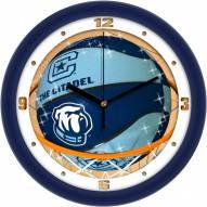 Citadel Bulldogs Slam Dunk Wall Clock