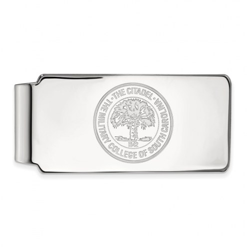 Citadel Bulldogs Sterling Silver Crest Money Clip