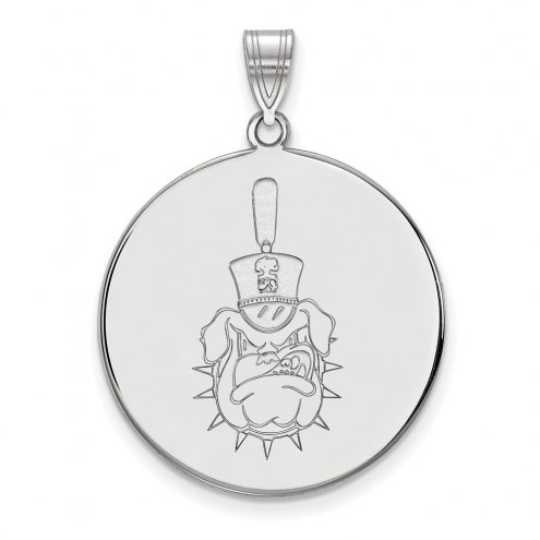 Citadel Bulldogs Sterling Silver Extra Large Disc Pendant