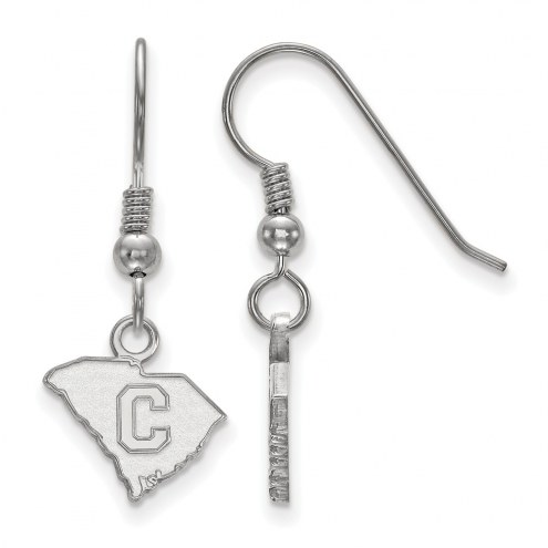 Citadel Bulldogs Sterling Silver Extra Small Dangle Earrings