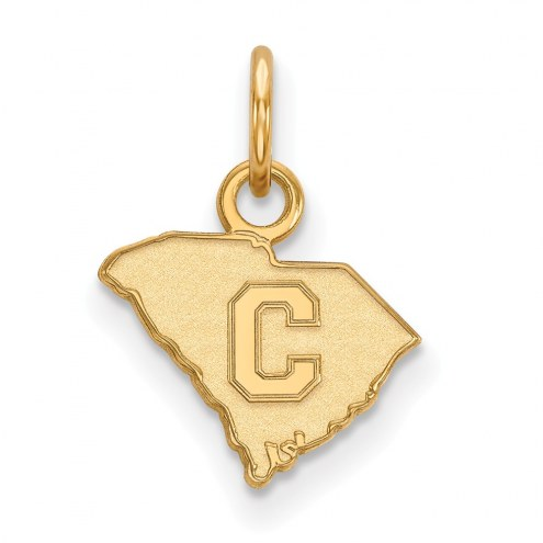 Citadel Bulldogs Sterling Silver Gold Plated Extra Small Pendant