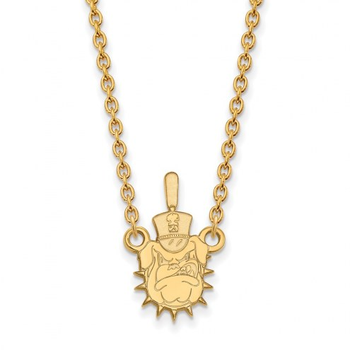 Citadel Bulldogs Sterling Silver Gold Plated Large Pendant Necklace