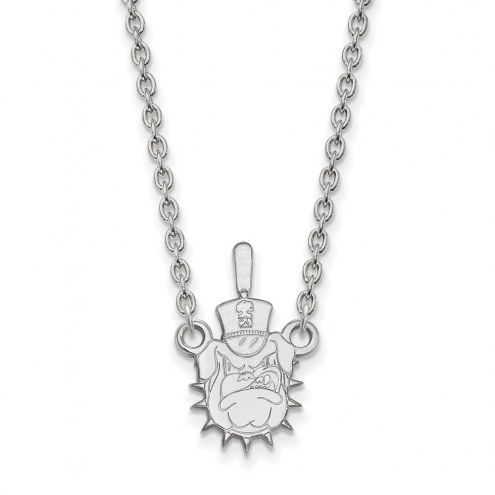 Citadel Bulldogs Sterling Silver Large Pendant Necklace