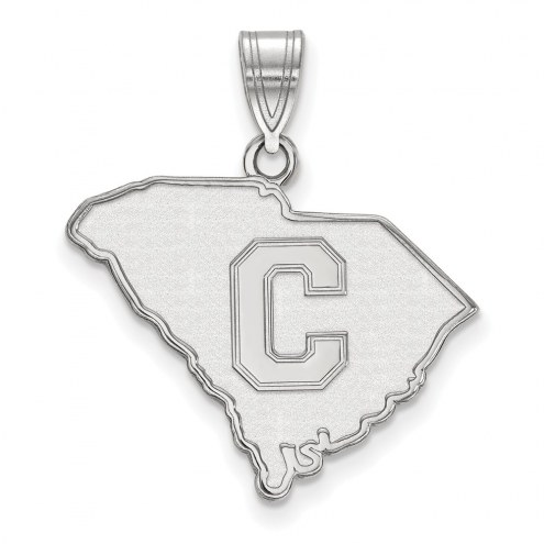 Citadel Bulldogs Sterling Silver Large Pendant