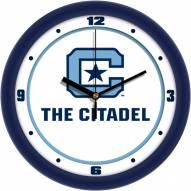 Citadel Bulldogs Traditional Wall Clock