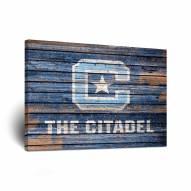 Citadel Bulldogs Weathered Canvas Wall Art