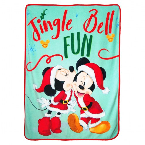Classic Mickey Jingle Bell Micro Raschel Throw Blanket
