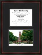 Clemson University Diplomate Framed Lithograph with Diploma Opening
