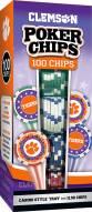 Clemson Tigers 100 Piece Poker Chips