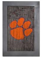 "Clemson Tigers 11"" x 19"" City Map Framed Sign"