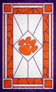 """Clemson Tigers 11"""" x 19"""" Stained Glass Sign"""