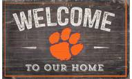 """Clemson Tigers 11"""" x 19"""" Welcome to Our Home Sign"""