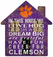 """Clemson Tigers 12"""" House Sign"""