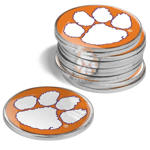 Clemson Tigers 12-Pack Golf Ball Markers