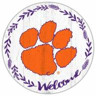 """Clemson Tigers 12"""" Welcome Circle Sign"""