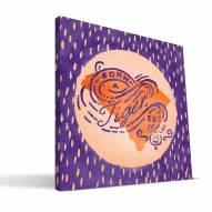 "Clemson Tigers 12"" x 12"" Born a Fan Canvas Print"