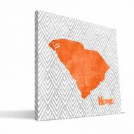 "Clemson Tigers 12"" x 12"" Home Canvas Print"
