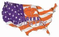 "Clemson Tigers 15"" USA Flag Cutout Sign"