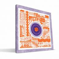 "Clemson Tigers 16"" x 16"" Pictograph Canvas Print"