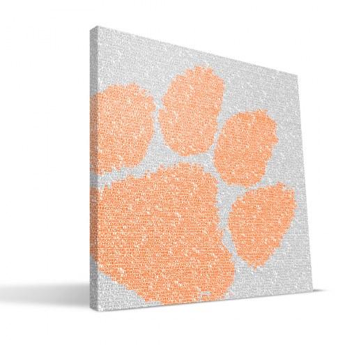"Clemson Tigers 16"" x 16"" Typo Canvas Print"
