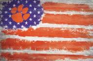 "Clemson Tigers 17"" x 26"" Flag Sign"