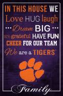 """Clemson Tigers 17"""" x 26"""" In This House Sign"""