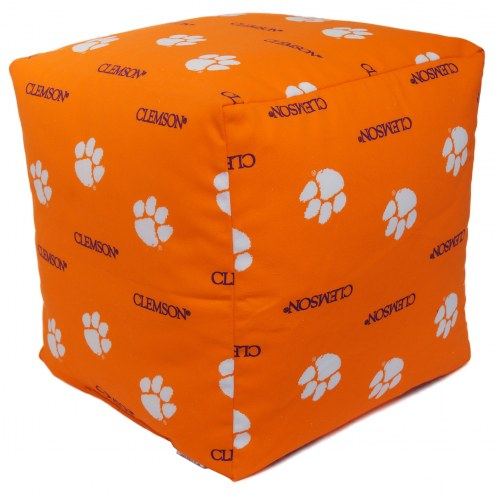 "Clemson Tigers 18"" x 18"" Cube Cushion"