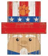 "Clemson Tigers 19"" x 16"" Patriotic Head"