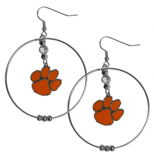 "Clemson Tigers 2"" Hoop Earrings"