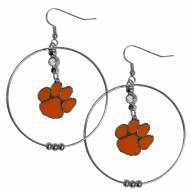 """Clemson Tigers 2"""" Hoop Earrings"""