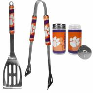 Clemson Tigers 2 Piece BBQ Set with Tailgate Salt & Pepper Shakers