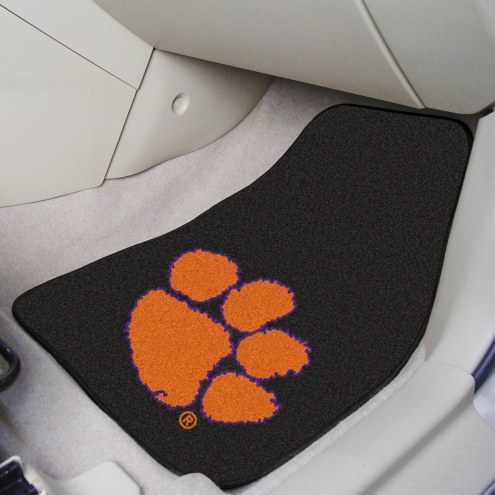 Clemson Tigers 2-Piece Carpet Car Mats