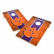 Clemson Tigers 2' x 3' Vintage Wood Cornhole Game