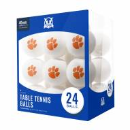 Clemson Tigers 24 Count Ping Pong Balls