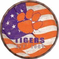 "Clemson Tigers 24"" Flag Barrel Top"