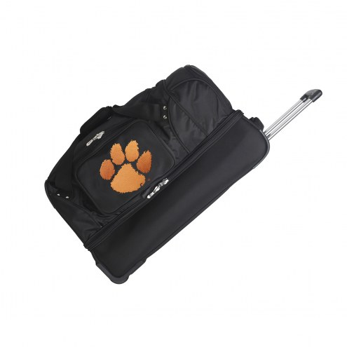 "Clemson Tigers 27"" Drop Bottom Wheeled Duffle Bag"