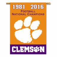 """Clemson Tigers 28"""" x 40"""" Champs Banner"""