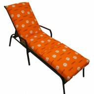 Clemson Tigers 3 Piece Chaise Lounge Chair Cushion